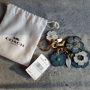 NEW Coach Tea Rose Keychain Bag Charm